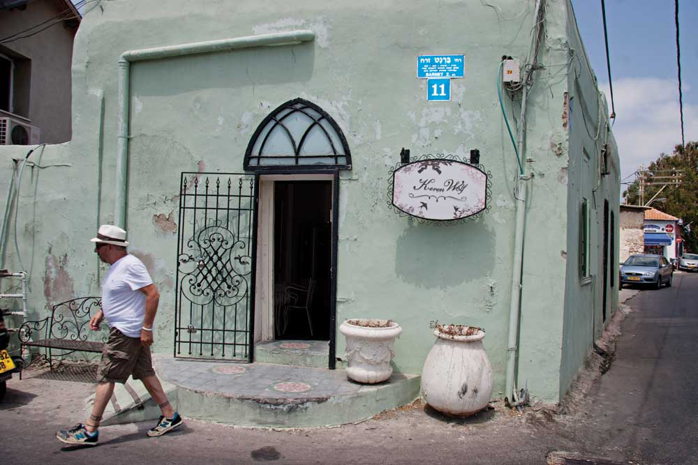 Neve Tsedek, full of local designer shops and excellent restaurants, is one of the most popular neighbourhoods in the city. I suggest the Nana Bar. Memorable!