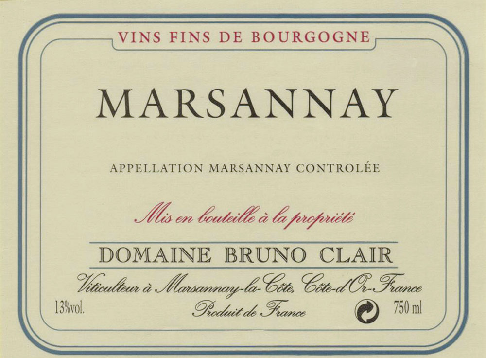 Marsannay  2007, Bruno Clair