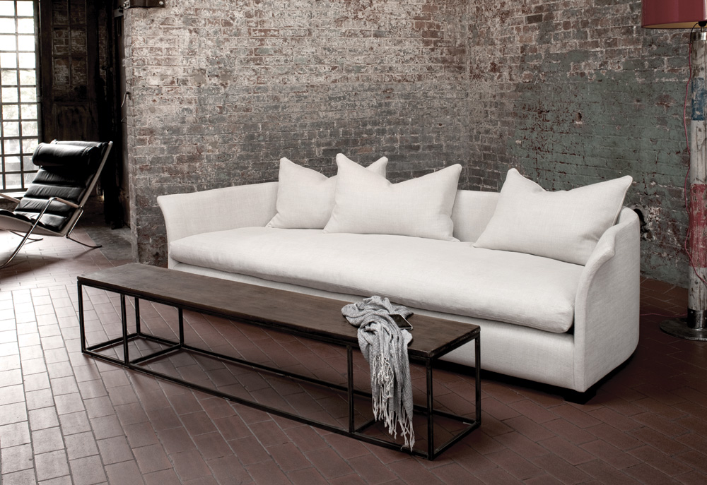 From the in-house designer Danny Chartier at Montauk: the Grace sofa