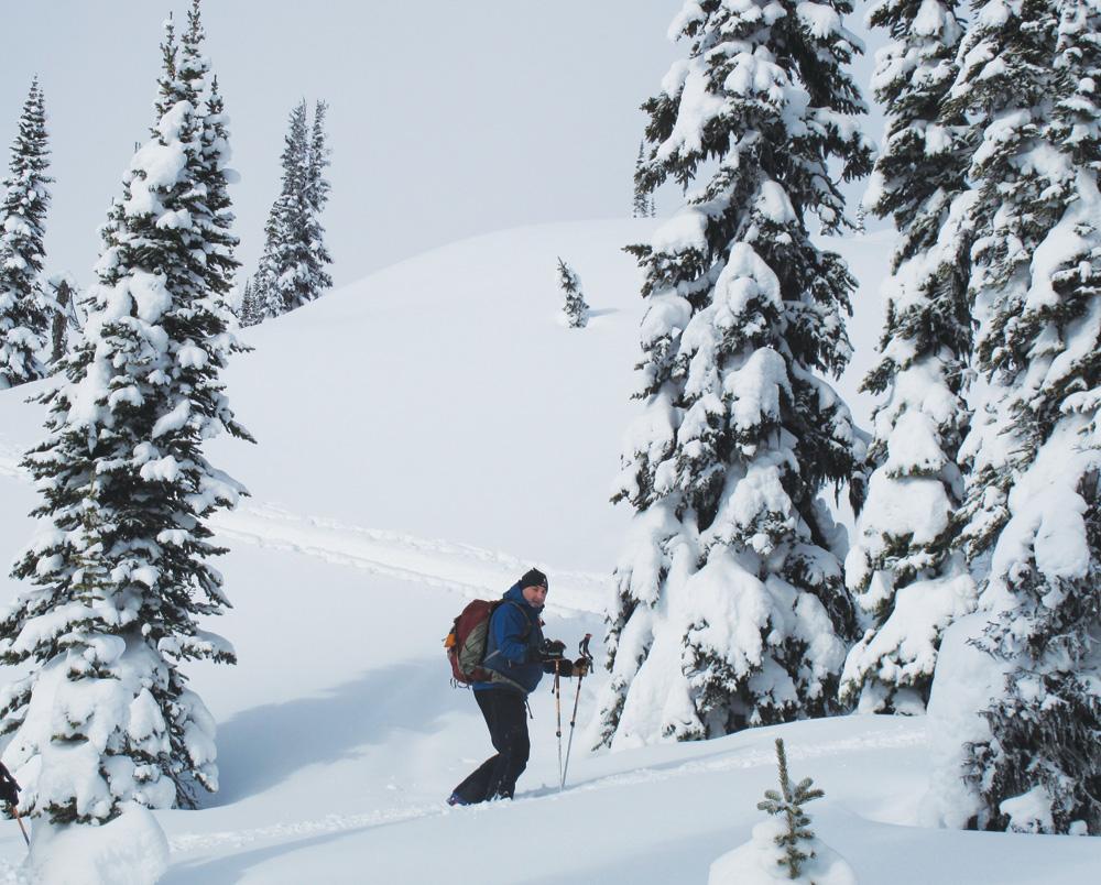 Pierre climbing. Sol Moutain, BC