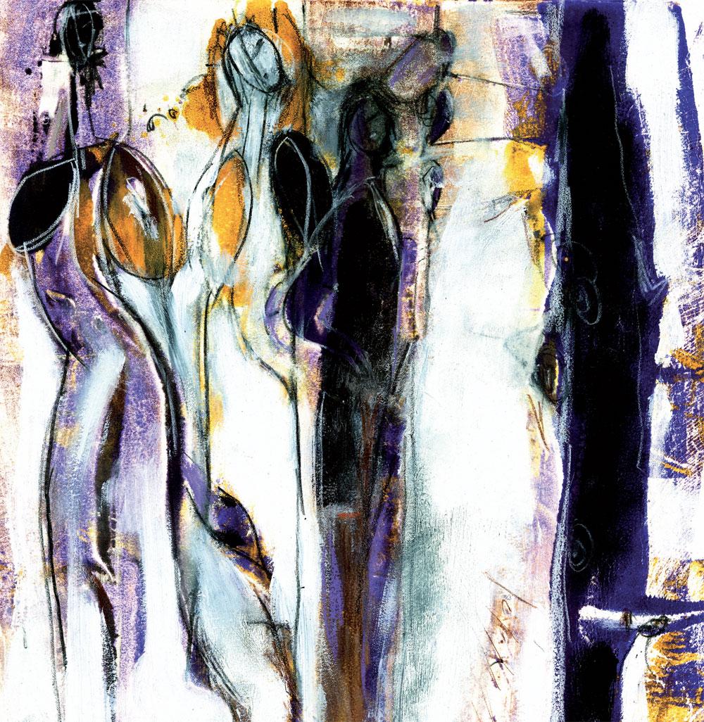 Les femmes de 30 ans, 2010, Monotype 12 x 14