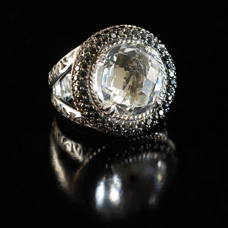 m11-accessoires-bague-argent-avec-pierre-noire-silver-ring-with-black-stone-joaillerie-signature