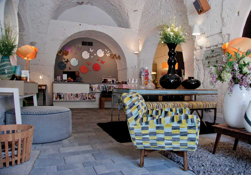 Elemento, a design house in the Arab quarter of Jaffa, is located in an ancient building from the Ottoman Empire. They have furnishings from international and local designers and will deliver custom furniture orders to Canada. Their magnificent dining room tables are a must see!