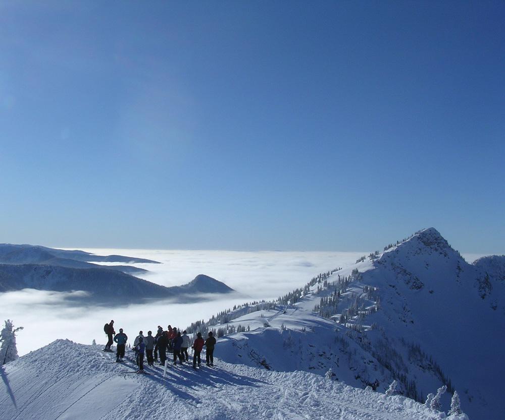 The boys at the top. Mustang Powder, BC